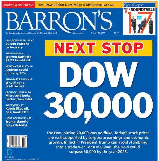dow 30,000 2017 barron's call