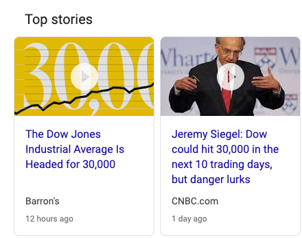 Dow 30,000 Barron's